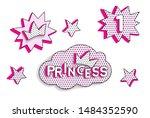 set of cute vector stickers....   Shutterstock .eps vector #1484352590