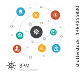 bpm colored circle concept with ...