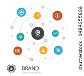 brand colored circle concept...