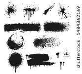 black ink splash on white... | Shutterstock .eps vector #1484362169