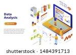 data analysis modern flat...   Shutterstock .eps vector #1484391713
