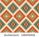 seamless colorful aztec pattern | Shutterstock .eps vector #148440446