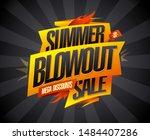 summer blowout sale  mega... | Shutterstock .eps vector #1484407286