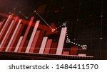Beautiful 3d red bar graph fall ...