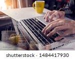 businessman and woman... | Shutterstock . vector #1484417930