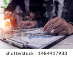 businessman and woman... | Shutterstock . vector #1484417933