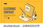 smart contract isometric web... | Shutterstock .eps vector #1484420159