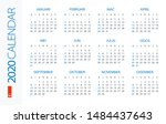 calendar 2020 year horizontal   ...   Shutterstock .eps vector #1484437643