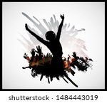 nightlife and disco concept....   Shutterstock .eps vector #1484443019