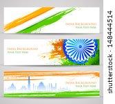 illustration of set of banner... | Shutterstock .eps vector #148444514