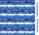 indigo blue shibori tie dye... | Shutterstock .eps vector #1484458229