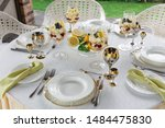 richly decorated banquet table... | Shutterstock . vector #1484475830