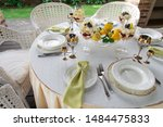 richly decorated banquet table... | Shutterstock . vector #1484475833