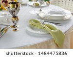 richly decorated banquet table... | Shutterstock . vector #1484475836