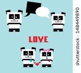 vector cartoon panda character | Shutterstock .eps vector #148449890