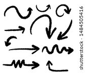 set of hand drawn grunge black... | Shutterstock .eps vector #1484505416