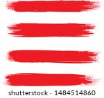 brush stroke set isolated on... | Shutterstock .eps vector #1484514860