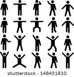 Set Of Active Human Pictograms...