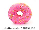 Donut With Pink And Yellow ...