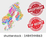 safety scandinavia map and... | Shutterstock .eps vector #1484544863