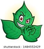 an evil sinister poison ivy...   Shutterstock .eps vector #1484552429