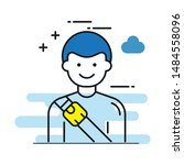 safety belts flat icon vector...   Shutterstock .eps vector #1484558096