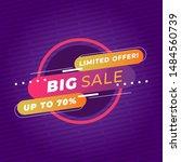 sale banner template design ... | Shutterstock .eps vector #1484560739