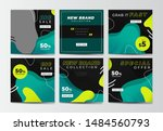 modern promotion square web... | Shutterstock .eps vector #1484560793