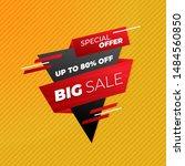 sale banner template design ... | Shutterstock .eps vector #1484560850