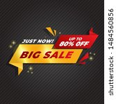 sale banner template design ... | Shutterstock .eps vector #1484560856