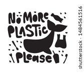 no more plastic please word... | Shutterstock .eps vector #1484561516