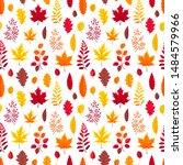 flying autumn leaves isolated... | Shutterstock .eps vector #1484579966