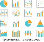 set of  chart for report icon....