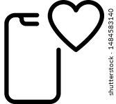 advance smartphone with inbuilt ...   Shutterstock .eps vector #1484583140
