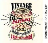 american baseball vintage retro ... | Shutterstock .eps vector #148459139