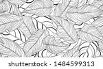 foliage seamless pattern  long... | Shutterstock .eps vector #1484599313