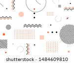 abstract modern geometric... | Shutterstock .eps vector #1484609810