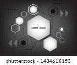 vector hexagon geometric shape... | Shutterstock .eps vector #1484618153