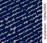 handwriting scrawl. written... | Shutterstock .eps vector #1484619869