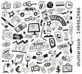 business   doodles set | Shutterstock .eps vector #148462466