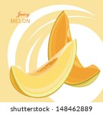 slices of juicy melon on the... | Shutterstock .eps vector #148462889