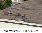 a close up view of shingles...   Shutterstock . vector #148466369