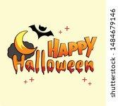 happy halloween day  halloween... | Shutterstock .eps vector #1484679146