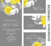 wedding invitation  thank you... | Shutterstock .eps vector #148468268