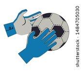 soccer football sport game... | Shutterstock .eps vector #1484705030