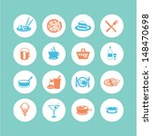 food icons   flat style | Shutterstock .eps vector #148470698