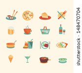 food icons   flat style | Shutterstock .eps vector #148470704