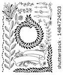 set of hand drawing sketch... | Shutterstock .eps vector #1484724503