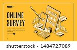 online survey isometric web... | Shutterstock .eps vector #1484727089