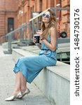beautiful caucasian girl in... | Shutterstock . vector #1484730176